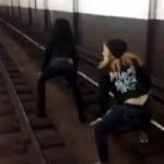 Twerking subway tracks