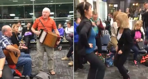 Flight Delay Turns into Canadian Airport Party (Video)