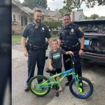 Massachusetts police surprise boy with new bike after previous 2 were stolen
